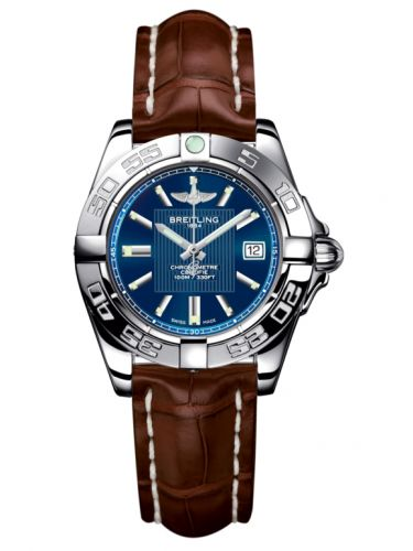 Breitling A71356L2.C811.778P : Galactic 32 Stainless Steel / Metallica Blue / Croco