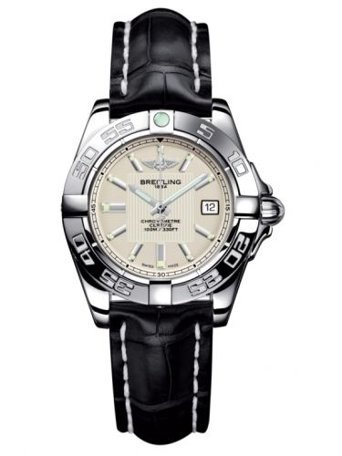 Breitling A71356L2.G702.777P : Galactic 32 Stainless Steel / Sierra Silver / Croco