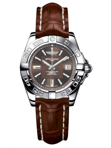 Breitling A71356L2.Q579.778P : Galactic 32 Stainless Steel / Solar Bronze / Croco