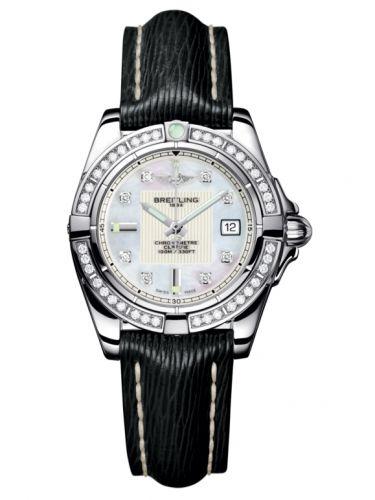 Breitling A71356LA.A708.208X : Galactic 32 Stainless Steel / Diamond / Pearl Diamond / Sahara