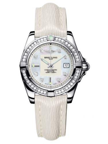 Breitling A71356LA.A708.235X : Galactic 32 Stainless Steel / Diamond / Pearl Diamond / Sahara