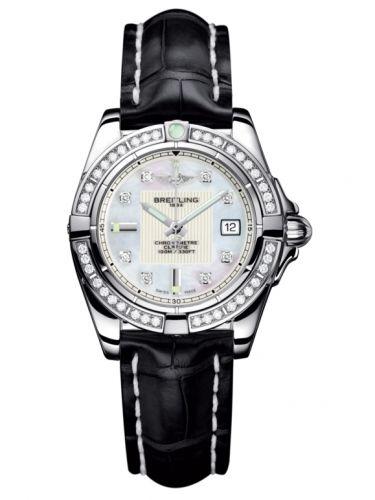 Breitling A71356LA.A708.777P : Galactic 32 Stainless Steel / Diamond / Pearl Diamond / Croco