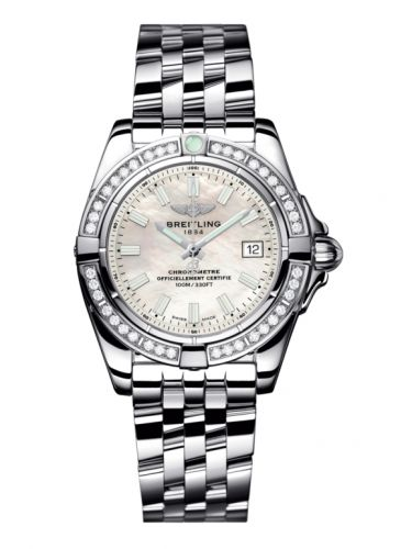 Breitling A71356LA.A787.367A : Galactic 32 Stainless Steel / Diamond / Pearl / Bracelet