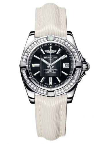 Breitling A71356LA.BA10.235X : Galactic 32 Stainless Steel / Diamond / Trophy Black / Sahara
