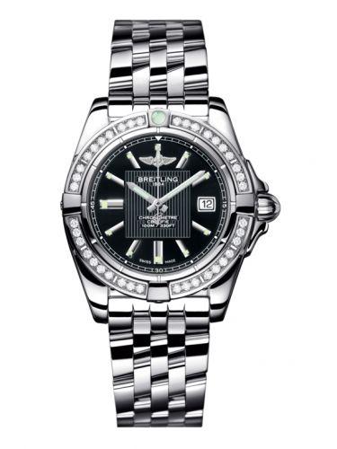 Breitling A71356LA.BA10.367A : Galactic 32 Stainless Steel / Diamond / Trophy Black / Bracelet