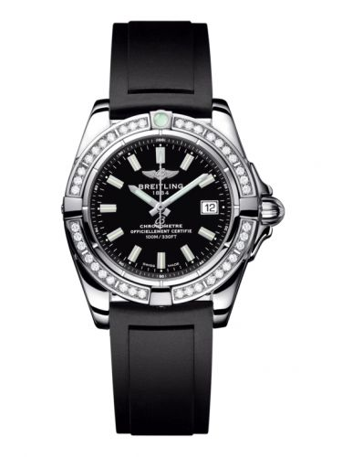 Breitling A71356LA.BE76.133S : Galactic 32 Stainless Steel / Diamond / Onyx Black / Rubber
