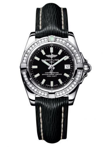 Breitling A71356LA.BE76.208X : Galactic 32 Stainless Steel / Diamond / Onyx Black / Sahara