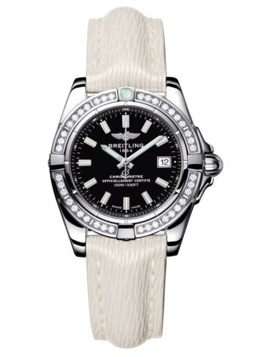 Breitling A71356LA.BE76.235X : Galactic 32 Stainless Steel / Diamond / Onyx Black / Sahara