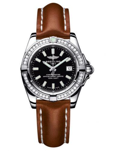 Breitling A71356LA.BE76.406X : Galactic 32 Stainless Steel / Diamond / Onyx Black / Calf