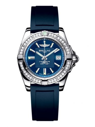 Breitling A71356LA.C811.141S : Galactic 32 Stainless Steel / Diamond / Metallica Blue / Rubber