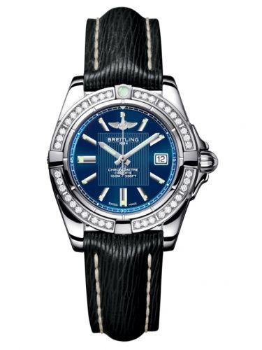 Breitling A71356LA.C811.208X : Galactic 32 Stainless Steel / Diamond / Metallica Blue / Sahara
