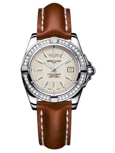 Breitling A71356LA.G702.406X : Galactic 32 Stainless Steel / Diamond / Sierra Silver / Calf