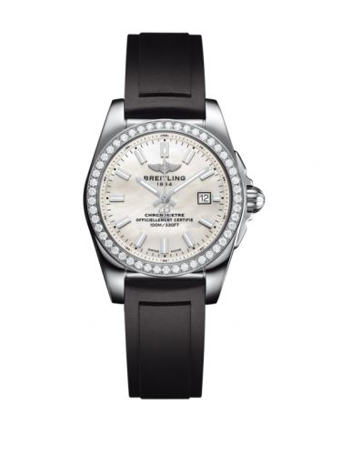 A7234853/A784/248S/A12S.1 : Breitling Galactic 29 Stainless Steel / Diamond / Pearl / Rubber