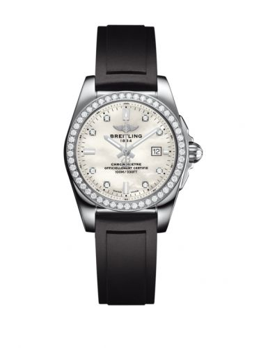 A7234853|A785|248S : Breitling Galactic 29 Stainless Steel / Diamond / Pearl Diamond / Rubber