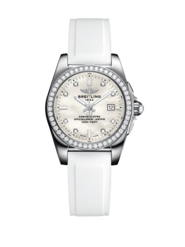 A7234853/A785/249S/A12S.1 : Breitling Galactic 29 Stainless Steel / Diamond / Pearl Diamond / Rubber