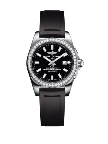 A7234853/BE49/248S/A12S.1 : Breitling Galactic 29 Stainless Steel / Diamond / Trophy Black / Rubber