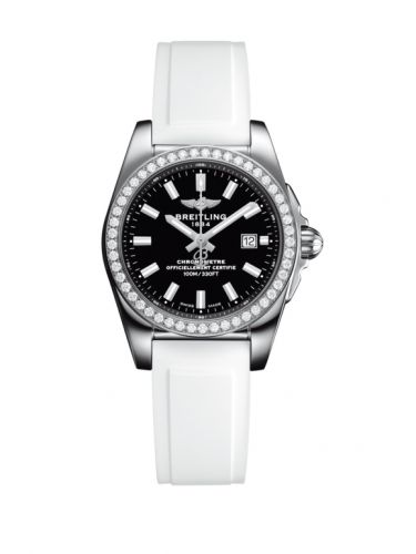 A7234853/BE49/249S/A12S.1 : Breitling Galactic 29 Stainless Steel / Diamond / Trophy Black / Rubber