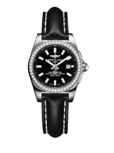 A7234853/BE49/477X/A12BA.1 : Breitling Galactic 29 Stainless Steel / Diamond / Trophy Black / Calf