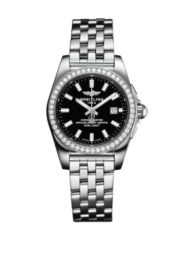 A7234853/BE49/791A : Breitling Galactic 29 Stainless Steel / Diamond / Trophy Black / Bracelet