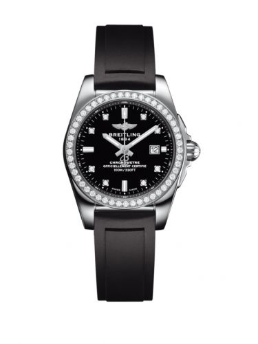 A7234853/BE50/248S/A12S.1 : Breitling Galactic 29 Stainless Steel / Diamond / Trophy Black Diamond / Rubber