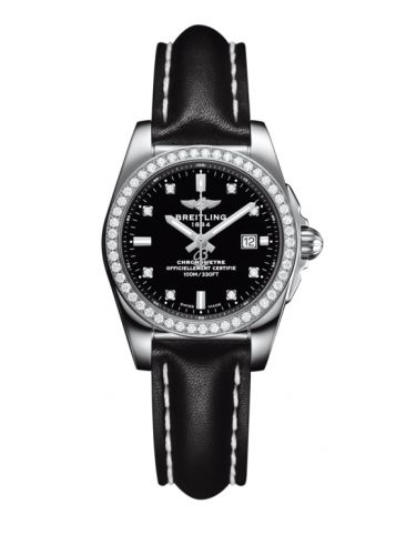 A7234853/BE50/477X/A12BA.1 : Breitling Galactic 29 Stainless Steel / Diamond / Trophy Black Diamond / Calf