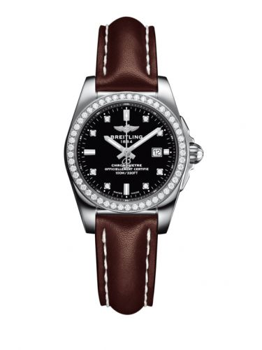 A7234853/BE50/484X/A12BA.1 : Breitling Galactic 29 Stainless Steel / Diamond / Trophy Black Diamond / Calf