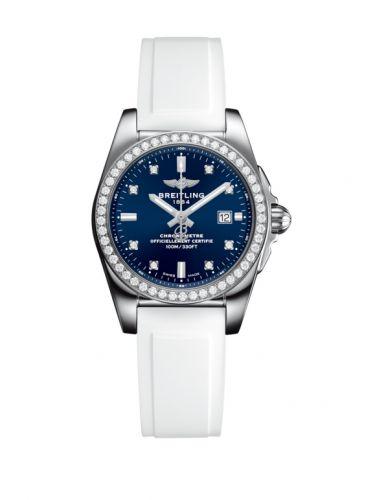 A7234853/C965/249S/A12S.1 : Breitling Galactic 29 Stainless Steel / Diamond / Horizon Blue Diamond / Rubber