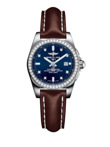 A7234853/C965/484X/A12BA.1 : Breitling Galactic 29 Stainless Steel / Diamond / Horizon Blue Diamond / Calf