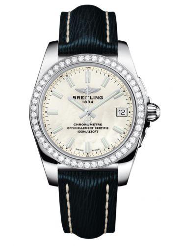 Breitling A7433053.A779.215X : Galactic 36 Stainless Steel / Diamond / Pearl / Sahara