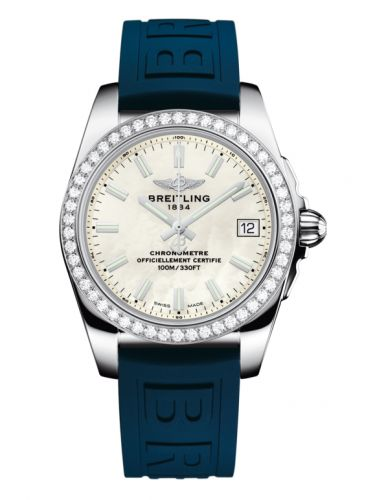 Breitling A7433053.A779.238S : Galactic 36 Stainless Steel / Diamond / Pearl / Rubber