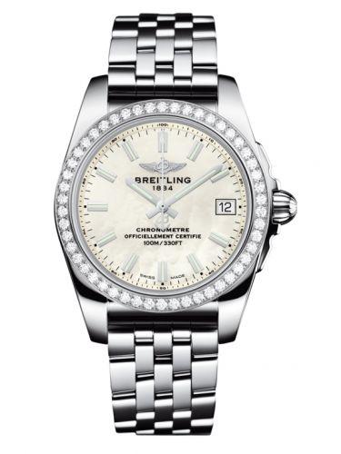 Breitling A7433053.A779.376A : Galactic 36 Stainless Steel / Diamond / Pearl / Bracelet