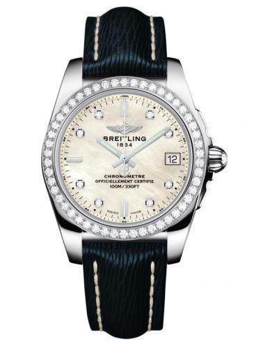 Breitling A7433053.A780.215X : Galactic 36 Stainless Steel / Diamond / Pearl Diamond/ Sahara