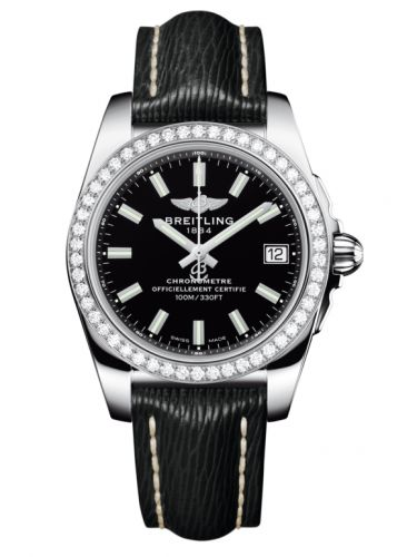 Breitling A7433053.BE08.213X : Galactic 36 Stainless Steel / Diamond / Trophy Black / Sahara