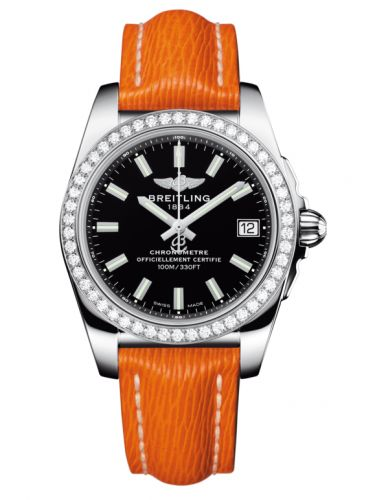 Breitling A7433053.BE08.217X : Galactic 36 Stainless Steel / Diamond / Trophy Black / Sahara