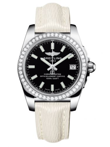Breitling A7433053.BE08.236X : Galactic 36 Stainless Steel / Diamond / Trophy Black / Sahara