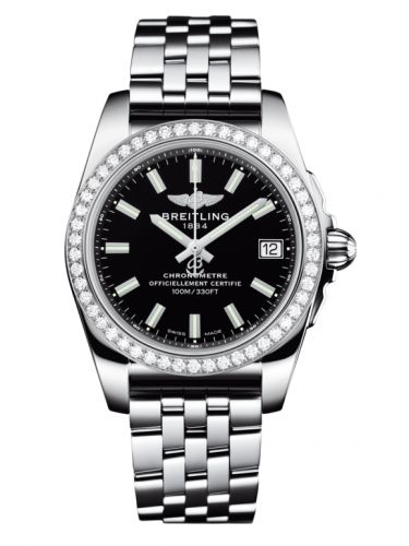 Breitling A7433053.BE08.376A : Galactic 36 Stainless Steel / Diamond / Trophy Black / Bracelet