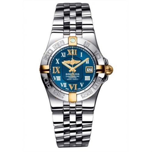 Breitling B71340L2.C779.368A : Galactic 30 Two Tone Blue / Roman / Bracelet