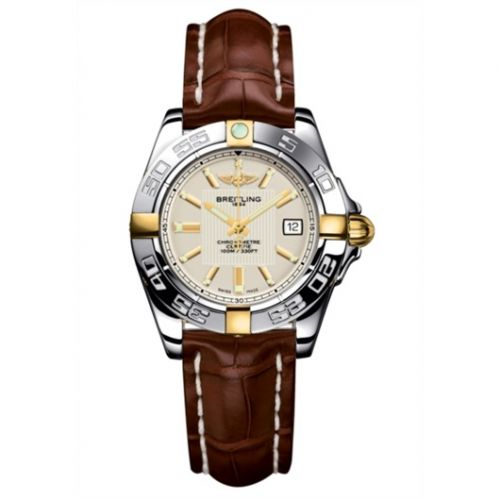 Breitling B71356L2.G703.778P : Galactic 32 Two Tone Silver / Alligator