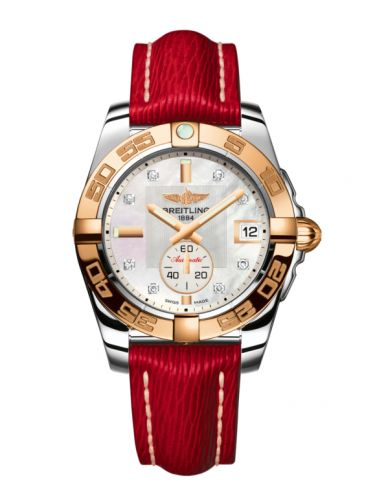 Breitling C3733012/A725/214X/A16BA.1 : Galactic 36 Automatic Stainless Steel / Rose Gold / Pearl Diamond / Sahara