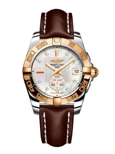 Breitling C3733012/A725/416X/A16BA.1 : Galactic 36 Automatic Stainless Steel / Rose Gold / Pearl Diamond / Calf