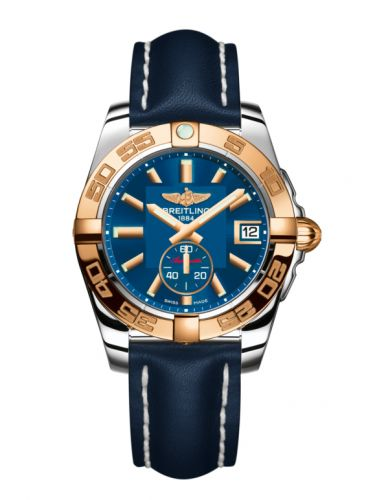 Breitling C3733012/C831/194X/A16BA.1 : Galactic 36 Automatic Stainless Steel / Rose Gold / Gun Blue / Calf