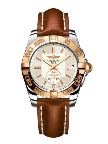 Breitling C3733012/G714/412X/A16BA.1 : Galactic 36 Automatic Stainless Steel / Rose Gold / Stratus Silver / Calf