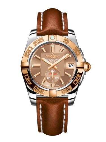 Breitling C3733012/Q584/412X/A16BA.1 : Galactic 36 Automatic Stainless Steel / Rose Gold / Copperhead Bronze / Calf