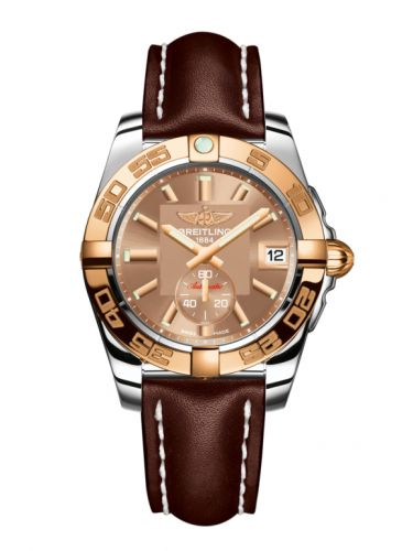 Breitling C3733012/Q584/416X/A16BA.1 : Galactic 36 Automatic Stainless Steel / Rose Gold / Copperhead Bronze / Calf