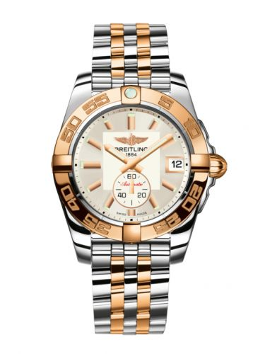 Breitling C3733012/G714/376C : Galactic 36 Automatic Stainless Steel / Rose Gold / Stratus Silver / Bracelet
