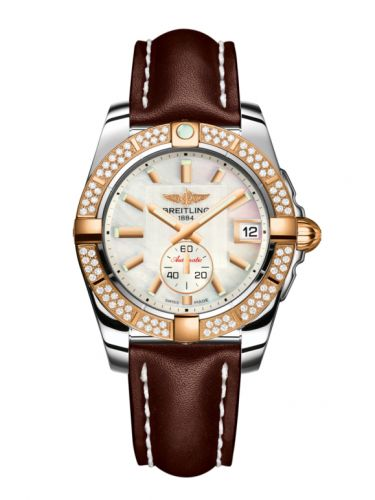 Breitling C3733053.A724.416X : Galactic 36 Automatic Stainless Steel / Rose Gold / Diamond / Pearl / Calf