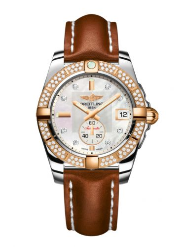 Breitling C3733053.A725.412X : Galactic 36 Automatic Stainless Steel / Rose Gold / Diamond / Pearl Diamond / Calf