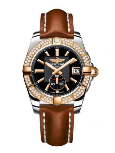 Breitling C3733053.BA54.412X : Galactic 36 Automatic Stainless Steel / Rose Gold / Diamond / Volcano Black / Calf