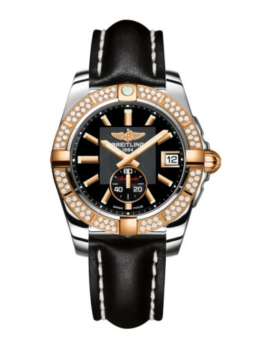 Breitling C3733053.BA54.414X : Galactic 36 Automatic Stainless Steel / Rose Gold / Diamond / Volcano Black / Calf