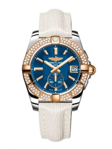 Breitling C3733053.C831.236X : Galactic 36 Automatic Stainless Steel / Rose Gold / Diamond / Gun Blue / Sahara